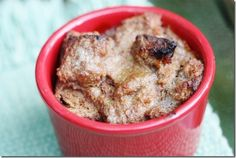 Bread pudding made with date paste.  I love dates + I love bread pudding = I will love this dessert