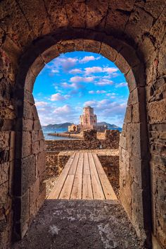 Castle of Methoni, Greece Europe Eu, Greek Isles, Types Of Photography, Covered Bridges, Santorini, Trip Planning, Croatia, Belgium, Netherlands