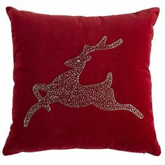 Beaded Reindeer Pillow