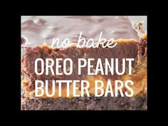 These oreo peanut butter bars have three thick layers: Oreo crust, thick and creamy peanut butter middle layer, and a rich chocolate frosting top layer!