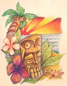 Tiki tattoo design   Flickr - Photo Sharing!