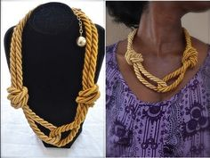 ▶ {172} D.I.Y. Jewelry: Target.com inspired multi knotted rope necklace - DIY Thursday #20 - YouTube