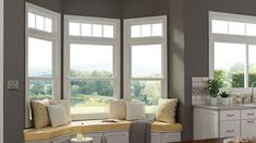 Newest Screen Farmhouse Windows double hung Ideas The modern Farmhouse look is just a major trend in design at this time, which finds its roots in fro Sunroom Windows, Farmhouse Windows, Living Room Windows, Casement Windows, Windows And Doors, Bay Windows, Kitchen Windows, Clerestory Windows, Living Spaces