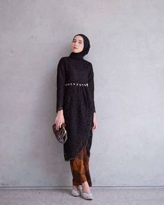 Fashion Hijab Dress Black Ideas - New Ideas Fashion Hijab Dress Black 56 Ideas Fashion Hijab Dress Kebaya Modern Hijab, Dress Brokat Modern, Model Kebaya Modern, Kebaya Hijab, Kebaya Kutu Baru Modern, Model Kebaya Muslim, Hijab Gown, Hijab Style Dress, Casual Dress Outfits
