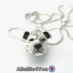 Staffordshire Bull Terrier Pendant Necklace in 925 by ABullie4You