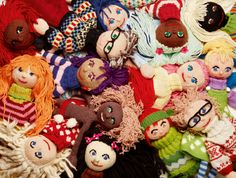 Designers, textile artists and authors, known for their craft books and their original and visually striking designs. Knitted Dolls, Crochet Dolls, Knit Crochet, Arne And Carlos, Doll Parts, Weird And Wonderful, Textile Artists, Softies, Plushies