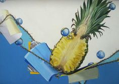 Yasuda ~ Sophomore. Pineapple 1/2, colored paper (color to use, number free), turtle, assumed transparent sphere.  http://ll1ii1ll1ii1ll.blog.fc2.com/blog-entry-150.html http://ll1ii1ll1ii1ll.blog.fc2.com/blog-date-201408.html