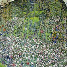 Gustav Klimt Garden Landscape with Hilltop - Ipaintingsforsale.com