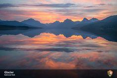 Fiery Sunrise, Lake McDonald, #gnp, #glaciernationalpark, #lakemcdonald, #apgarvillage Glacier National Park, 2014. NPS Photo/ Tim Rains