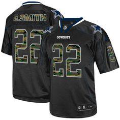 NFL Mens Elite Nike Dallas Cowboys http://#22 Emmitt Smith Camo Fashion Black Jersey $129.99