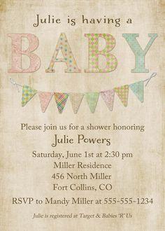 50 best baby shower invites images on pinterest baby shower baby shower invitations gender neutral baby shower invite shabby chic style diy printable filmwisefo