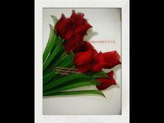 ดอกกุหลาบผ้าใยบัว how to make nylon flower (rose) by FB: ployandpoom(ผ้าใยบัว) - YouTube