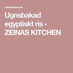 Ugnsbakad egyptiskt ris - ZEINAS KITCHEN