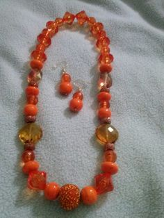 2 n 1 handmade necklace (turn it around wear both ways) set designed by Cherry P @womensmallbiz for our fundraiser