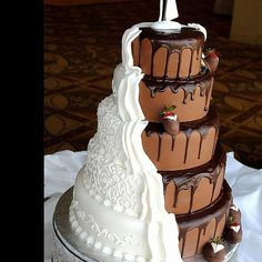 - Unique chocolate wedding cake is something special for everybody!