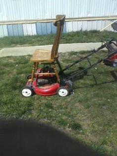 My neighbors hillbilly riding lawnmower..lol