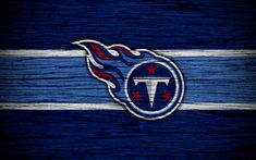 Download wallpapers Tennessee Titans, NFL, American Conference, 4k, wooden texture, american football, logo, emblem, Nashville, Tennessee, USA, National Football League