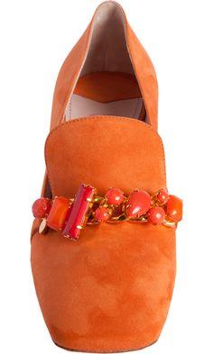 Miu Miu Jewel Embellished Loafer