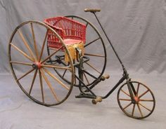 C. 1885 Tricycle Velocipede