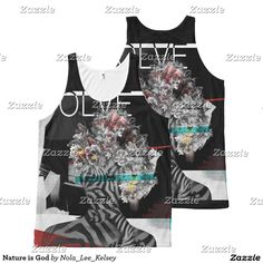 'Nature is God' All-Over Print Tank Top