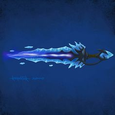 Glowing Nexus Sword from World of Warcraft: Wrath of the Lich King