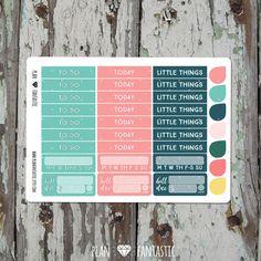 Header Box Planner Sticker - Vintage Floral Sticker Kit - Erin Condren - Filofax - Midori - Happy Planner - Travelers Notebook by planfantastic