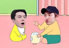 Exo Memes, Blackpink Memes, Baekhyun Fanart, Kyungsoo, Iu Hair, Blackpink Funny, Exo 12, Big Bang Top, Kpop