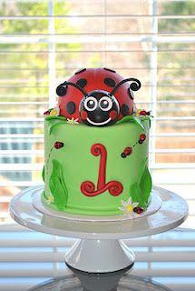 Lady Bug Cake - like the # style