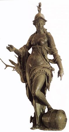 Hubert Gerhard - The Allegory of Bavaria c. 1590. Cast bronze, height: 231 cm. Residenzmuseum, Munich