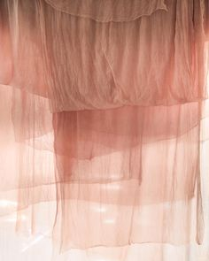 """My view today. Watching the sun shine though the sheer silk on my drying rack. Our sheer silk is too delicate to dry outdoors (the slightest wind sets it…"" Silk And Willow, Color Stories, Photo Backgrounds, Pink Aesthetic, Textures Patterns, Fabric Textures, Textile Texture, Color Inspiration, Decoration"