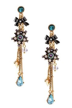Flower Charm Earrings by Betsey Johnson Jewelry & Watches on @HauteLook