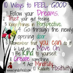 I feel good. .....:)