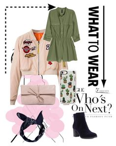 """""""green/pink"""" by pandastudio1 ❤ liked on Polyvore featuring H&M, Casetify, Shoes of Prey, LULUS and Boohoo"""