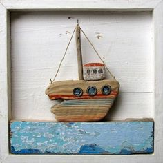 Driftwood Ship Driftwood Wall art / picture / driftwood inspiration / sail boats, ships and yachts / gifts and presents/ home decor ideas / /maritime and nautical/ Christmas gift ideas Driftwood Beach, Driftwood Art, Summer Decoration, Driftwood Projects, Sea Crafts, Sea Art, Pebble Art, Stone Art, Wood Carving