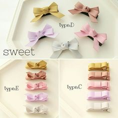 [選べるお得な2個セット] Baby&Kids リボンヘアクリップ Ribbon Hair Bows, Diy Hair Bows, Diy Bow, Toddler Hair Clips, Baby Hair Clips, Baby Headbands, Baby Girl Hair Accessories, Crochet Dolls Free Patterns, Baby Girl Bows