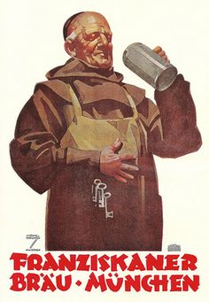 Franziskaner Brau-Munchen - anuncio de la cerveza alemana