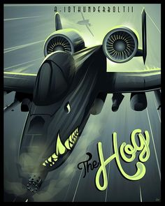 "Check out this ""A-10 Warthog"" Shock Wave series poster art found only at squadronposters.com"