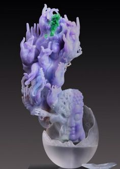 Jadeite Artist Yu FengYe - the lavender is almost too perfect to be true!