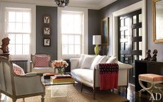 Love this color! Maybe as an accent wall or master bath color?!