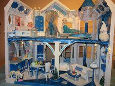 Eispalast Elsa Schloss Frozen Barbie Designer Villa  Unikat  Eisprinzessin