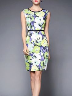Printed Polyester  #Mini #dress  #stylewe