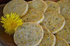 Sweet & Savoury Dandelion Rosemary Shortbread