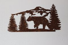 """Outstanding """"metal tree wall art decor"""" info is readily available on our site. Have a look and you wont be sorry you did Tree Wall Decor, Metal Wall Decor, Large Metal Wall Art, Metal Art, Bear Decor, Tree Artwork, Wall Sculptures, Tree Sculpture, Unique Home Decor"""