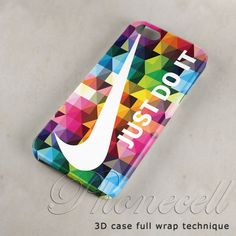 Geometric+Nike+Just+Do+it+case+iphone+4+caseiphone+4s+by+Phonecell,+$14.75