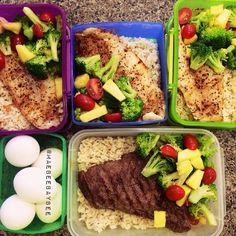 Healthy meal prepping! @maebeebaybee #healthy #meals