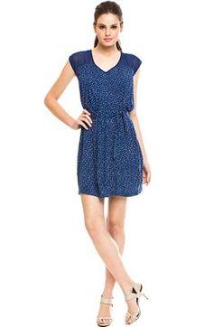 Belted Print Dress - Dresses - Womens - Armani Exchange