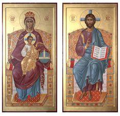 Byzantine Art, Byzantine Icons, Religious Icons, Religious Art, Christ Pantocrator, Wedding Icon, Orthodox Icons, Sacred Art, I Icon