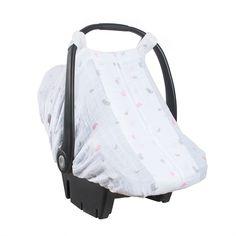 Bébé au Lait - Muslin Car Seat Cover - Chickadee