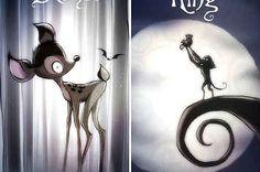 So würden Disney-Filme aussehen, wenn Tim Burton Regie geführt hätte