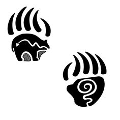 black-and-white-bear-paw-print-tattoo-design